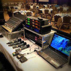 Multi Media Audio Visual Tech Table